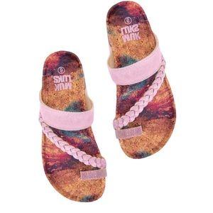 NWT MUK LUKS Keia Memory Foam Sandals 6